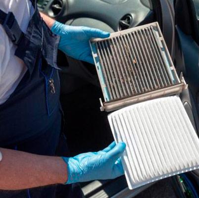 Higienização e troca de filtro de cabine ar condicionado carro